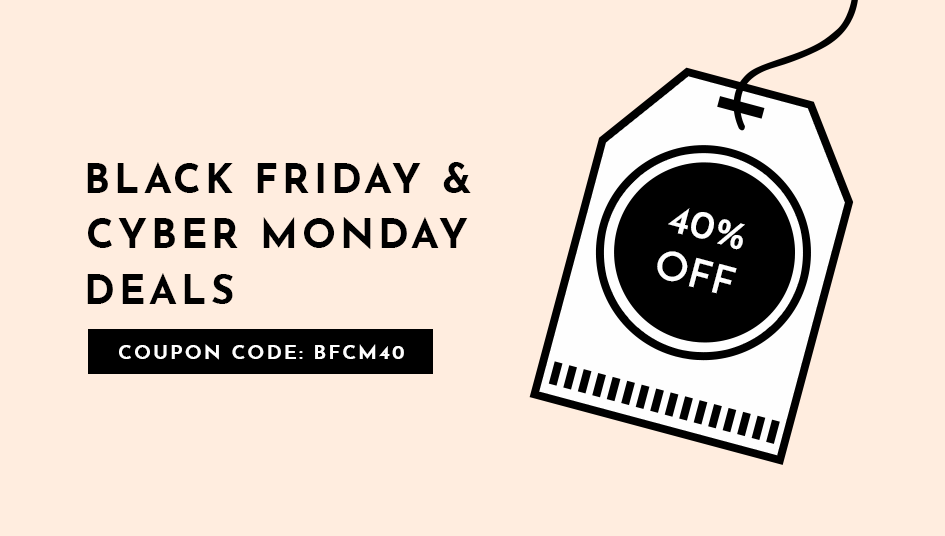 Black Friday and Cyber Monday Deal 2017: 40% Off