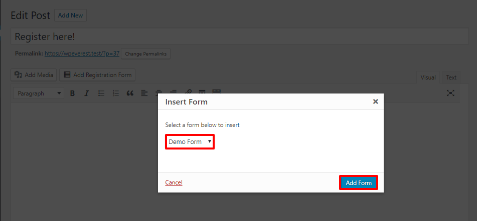 file upload form
