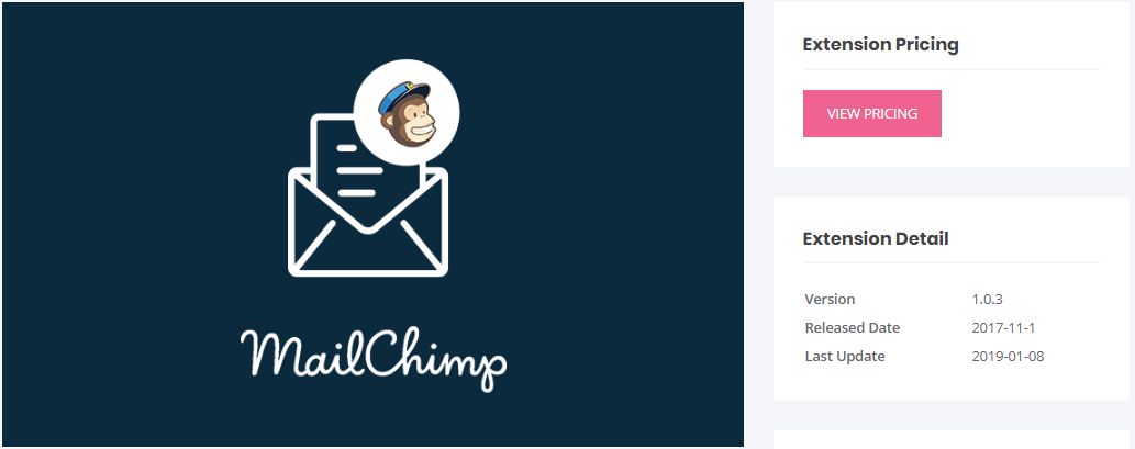 MailChimp user registration