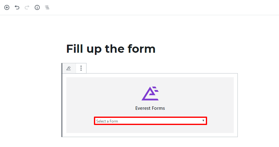 wordpress form display form