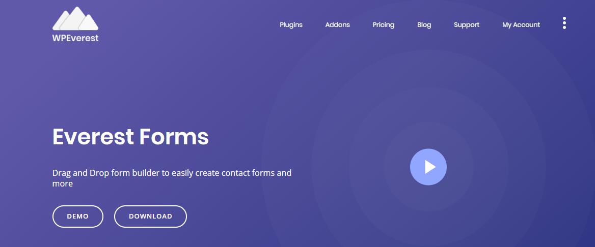 Everest Forms- WordPress Survey Plugin