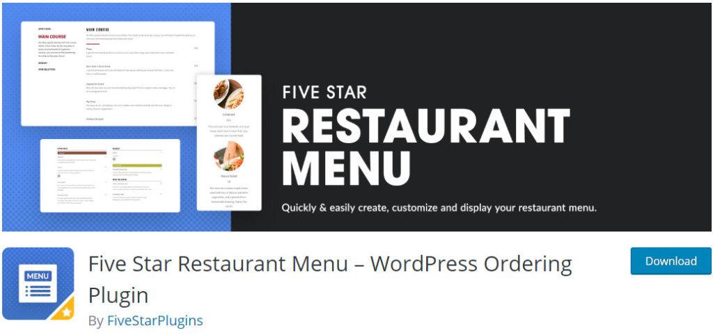 Five-Star-Restaurant-Menu-wordpress-order-online-food-plugin