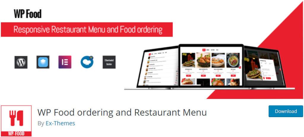 WP Food wordpress order online food plugin