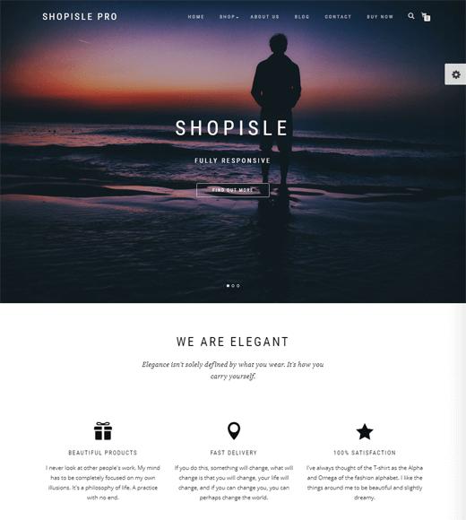 ShopIsle Free eCommerce WordPress Theme
