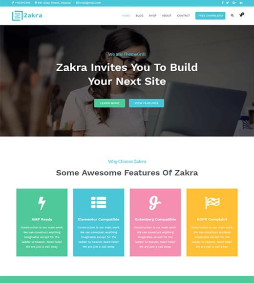Zakra Best Free WordPress Theme