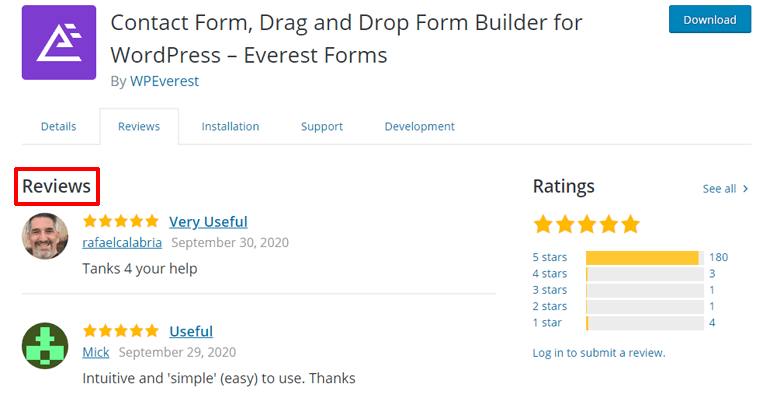 Everest Forms User Reviews