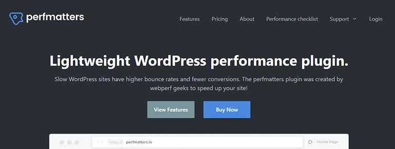 PerfMatter WordPress Speed Optimization Plugins