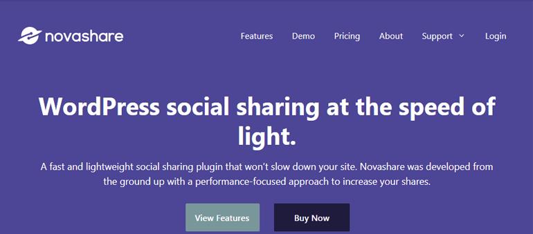 Novashare Social Sharing Plugin