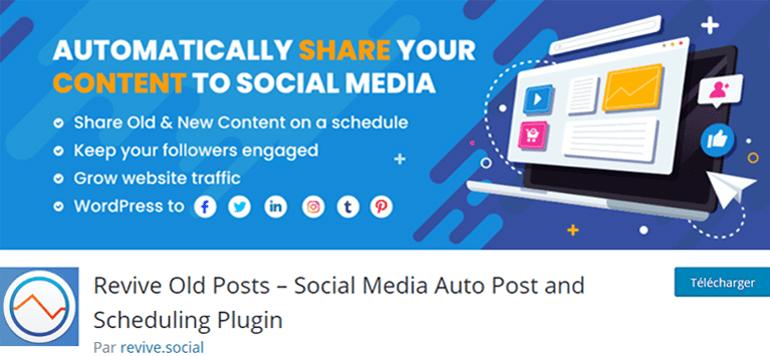 Revive Old Posts Social Media Plugin