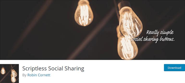 Scriptless Social Sharing Plugin