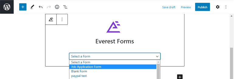 Selecting a Form