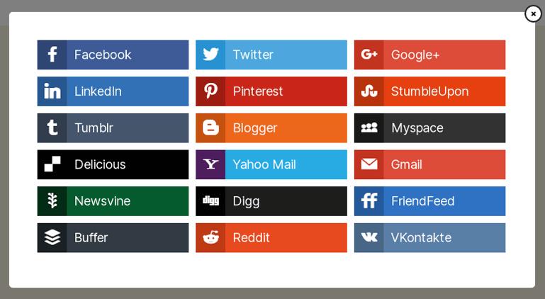 Popular Social Sharing Buttons