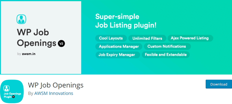 WP Job Openings Application Form Plugin