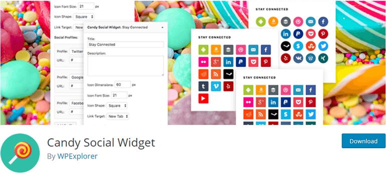 Candy Social Widget WordPress Plugin