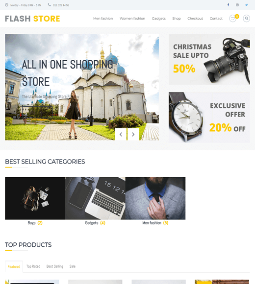 Flash eCommerce Theme Demo