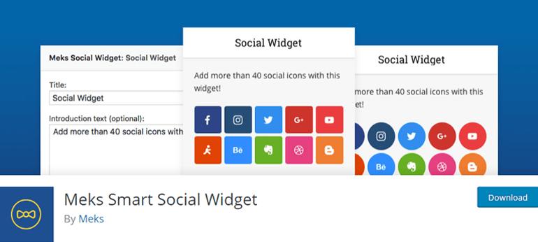 Meks Smart Social Widget WordPress Plugin