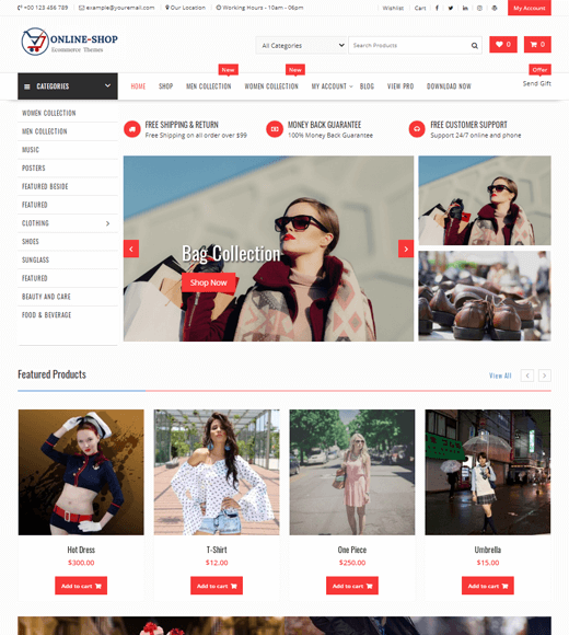 Online Shop WordPress WooCommerce Theme