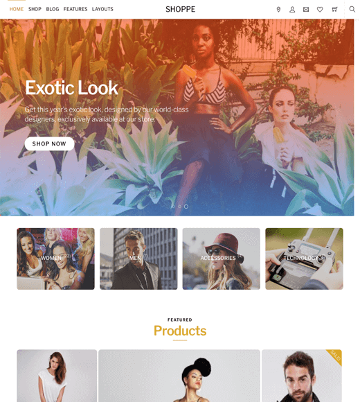 Shoppe Popular WooCommerce Theme