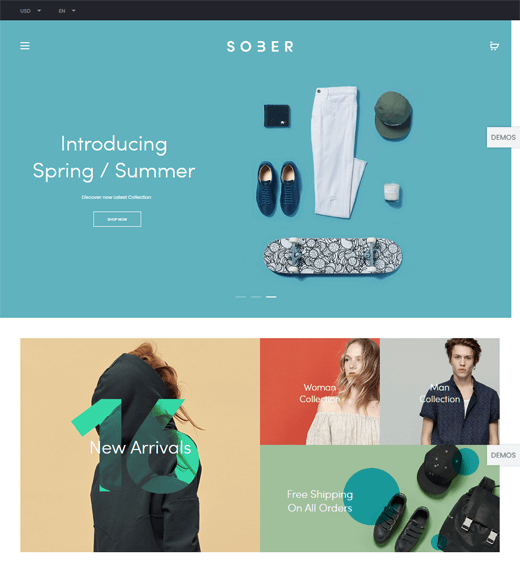 Sober Multi-purpose eCommerce Theme