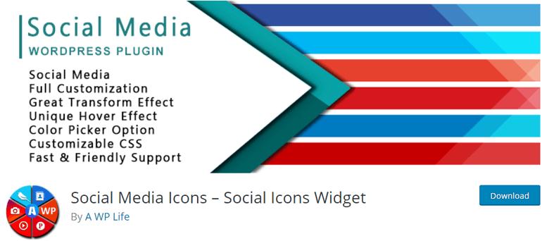 Social Media Icons - Social Icons Widget Plugin