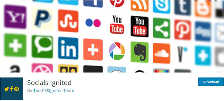 Socials Ignited Social Icons Widget Plugin