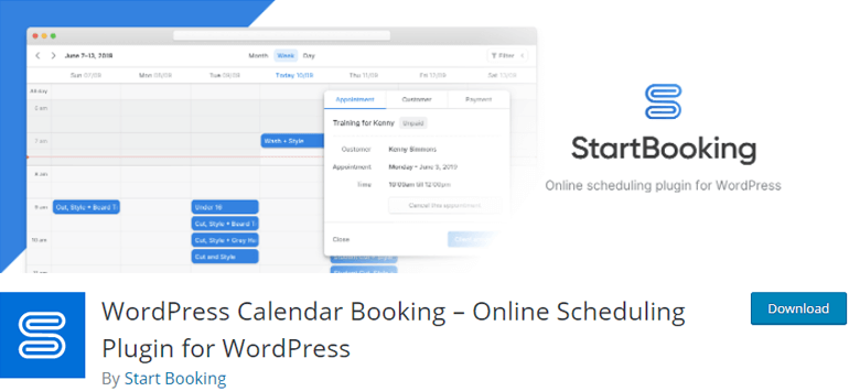 Start Booking Appointment Plugins