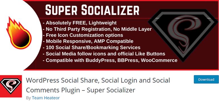 Super Socializer Social Media Plugin