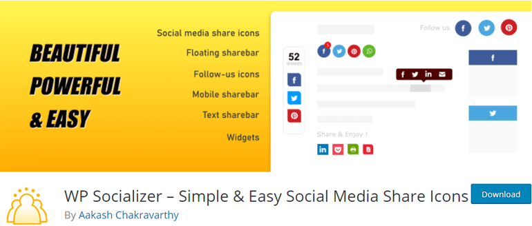 WP Socializer Social Media Plugin