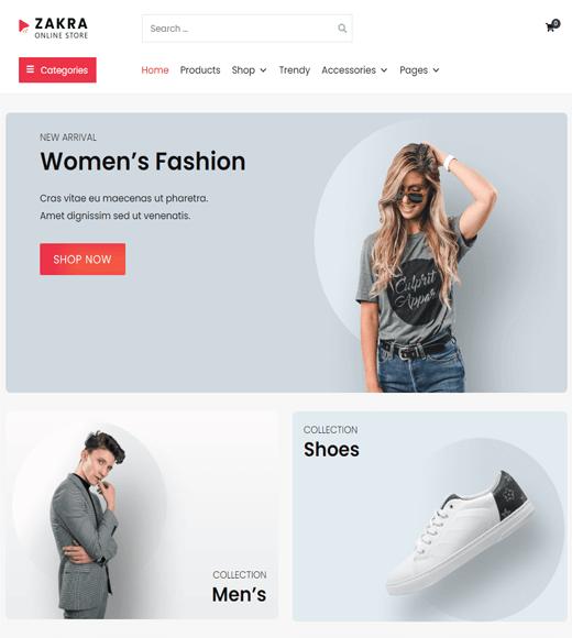 Zakra Online Store Theme Demo