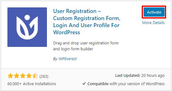 Activate User Registration