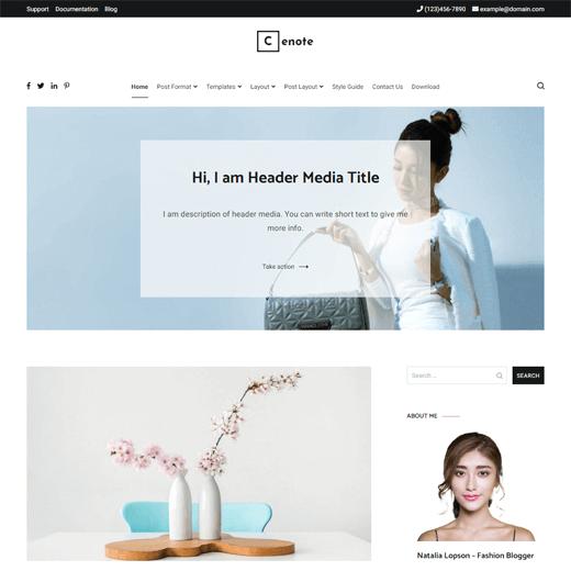 Cenote Blog Theme Demo
