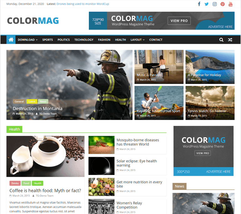 ColorMag Blog Theme Demo