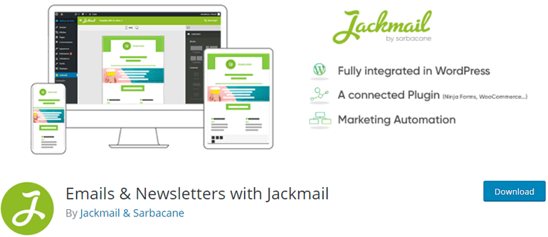 JackMail WordPress Newsletter Plugin