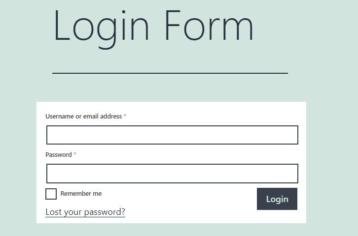 Login Form Applied