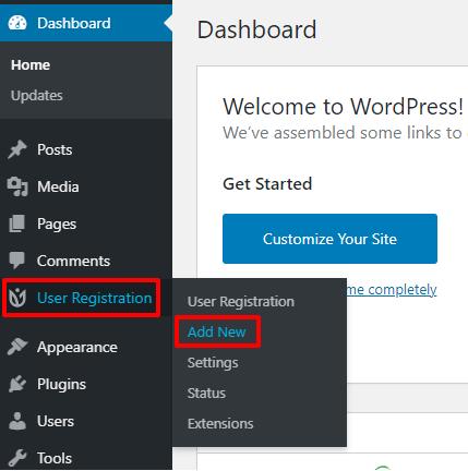 User Registration to Add New
