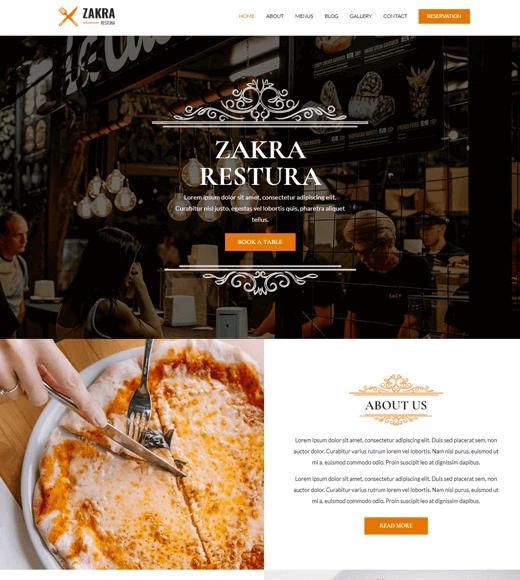 Zakra Theme Restaurant Demo