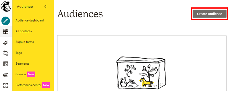 Create Audience Button