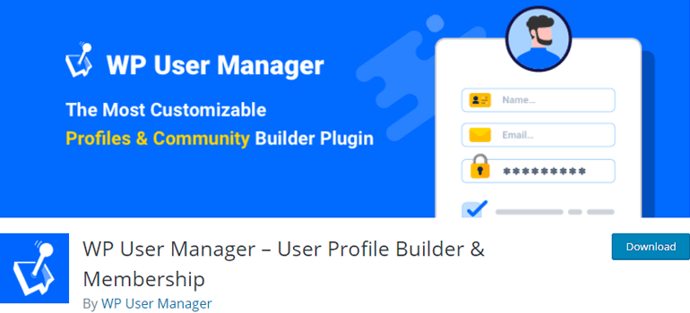 WP User Manager Plugin