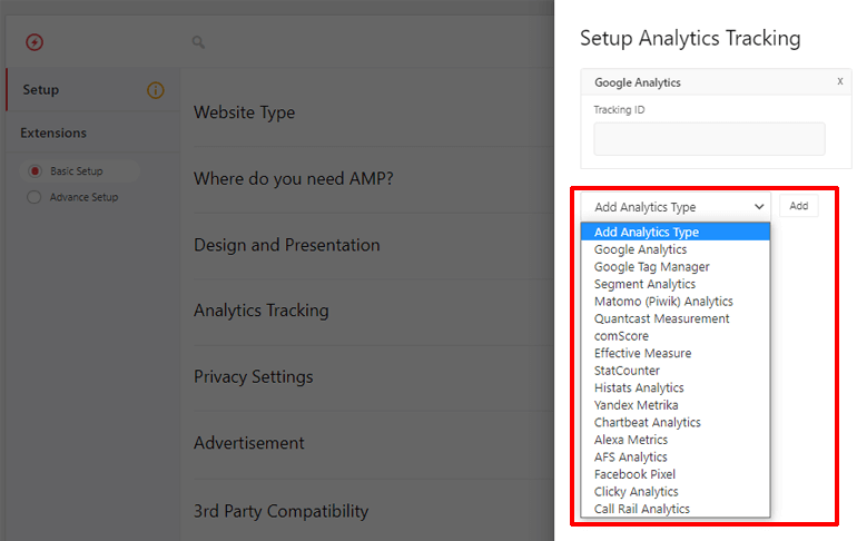 Analytics Tracking in AMP for WP