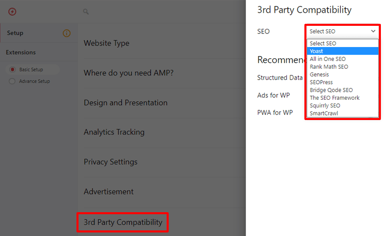 Compatible Third Parties in AMP for WP