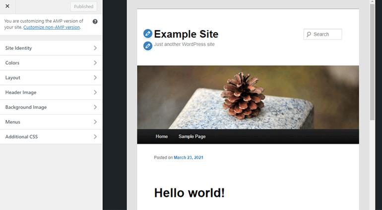 Customizer for Reader Mode