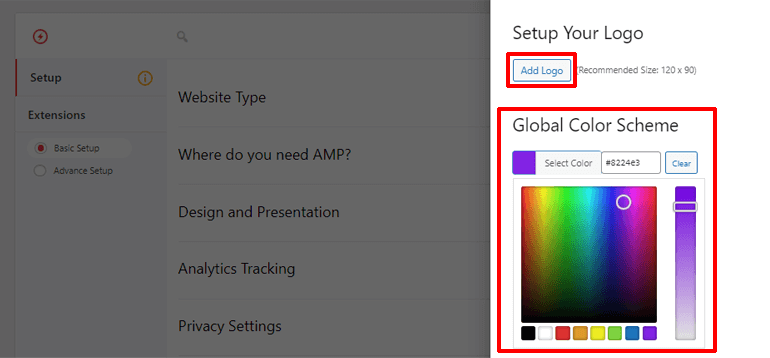 Design and Presentation Options in AMP for WP