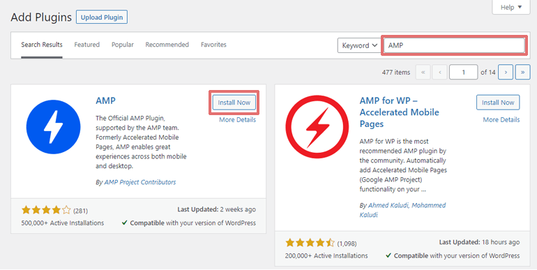 Install the Official AMP Plugin