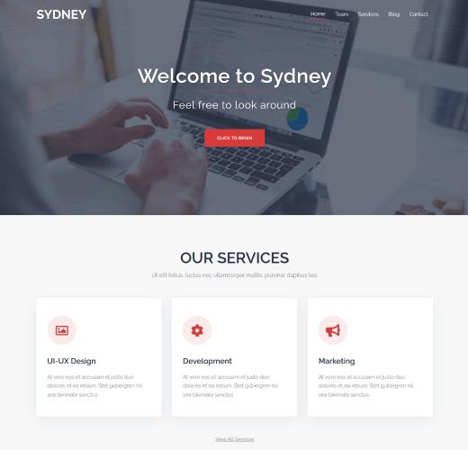 Sydney WordPress Theme Demo