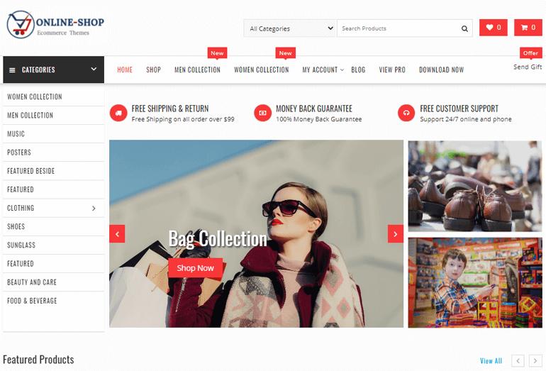 Online Shop WordPress Theme Demo