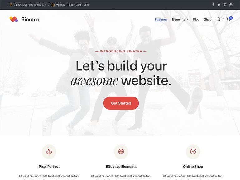 Sinatra WordPress Theme