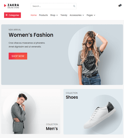 Zakra Theme Online Store Demo