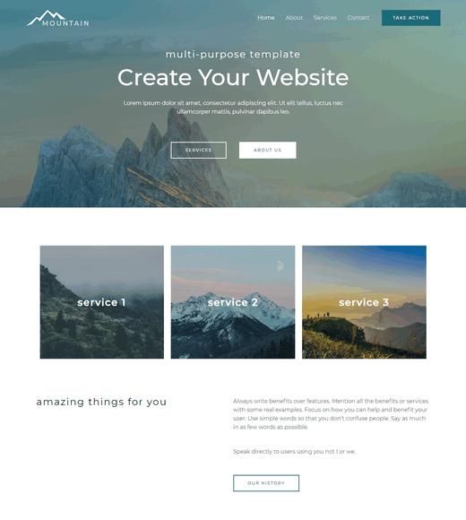Astra WordPress Free Landing Page