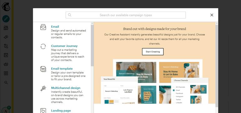ConvertKit vs Mailchimp Interface
