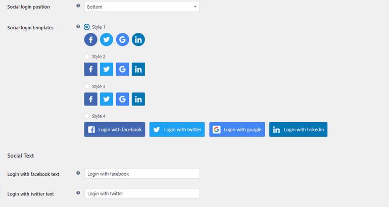 Customize Social Login Buttons